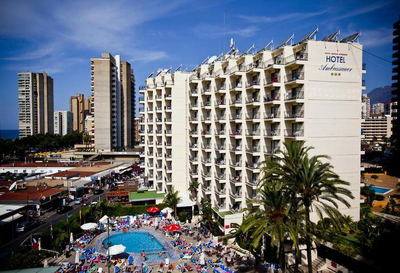 Outside Hotel Ambassador Playa II Benidorm