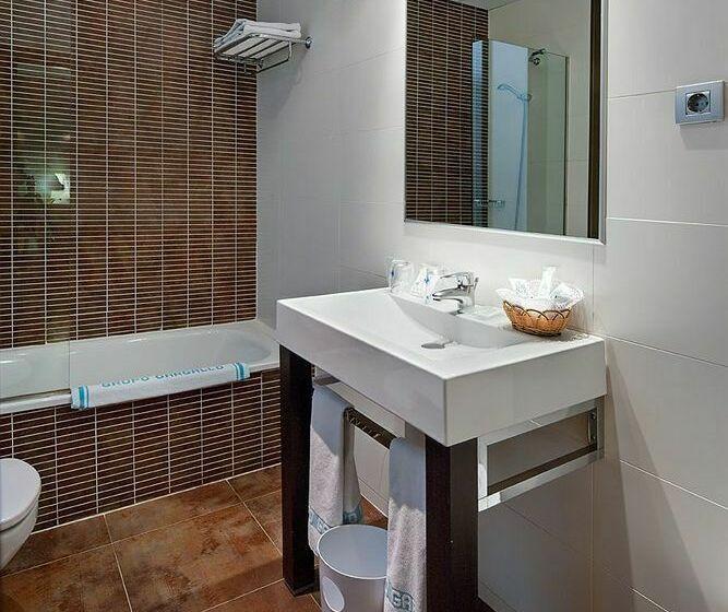 Cuarto de baño Hotel Rialto Barcelona