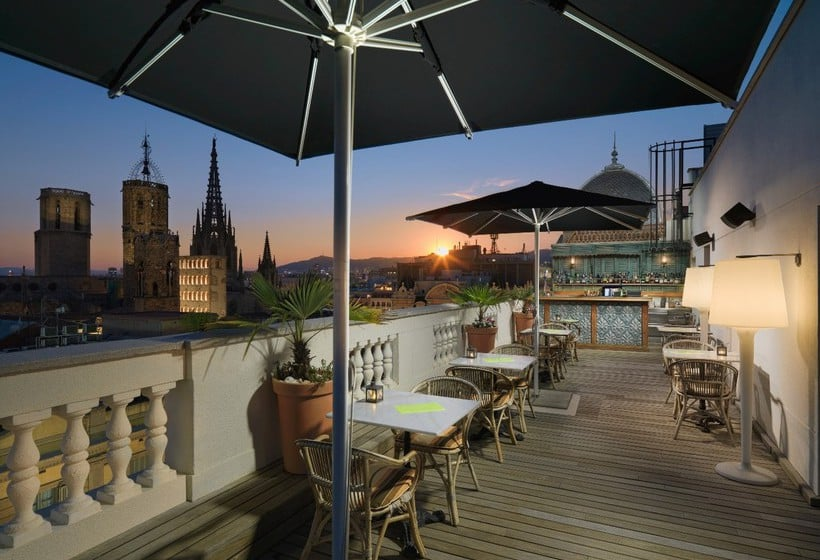 Terrace H10 Montcada Boutique Hotel Barcelona
