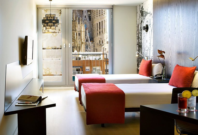 部屋 ホテル Ayre Rosellón バルセロナ