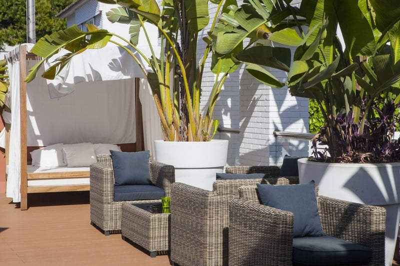 Terraza Hotel Ibersol Antemare Spa Sitges
