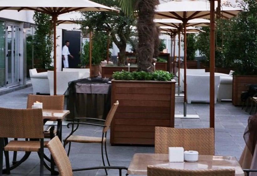 테라스 Eurohotel Diagonal Port 바르셀로나