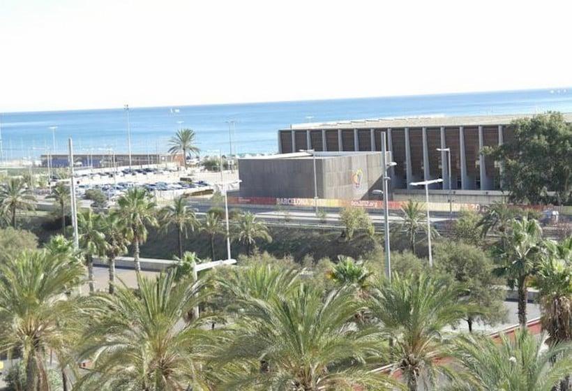 Outside Eurohotel Diagonal Port Barcelona