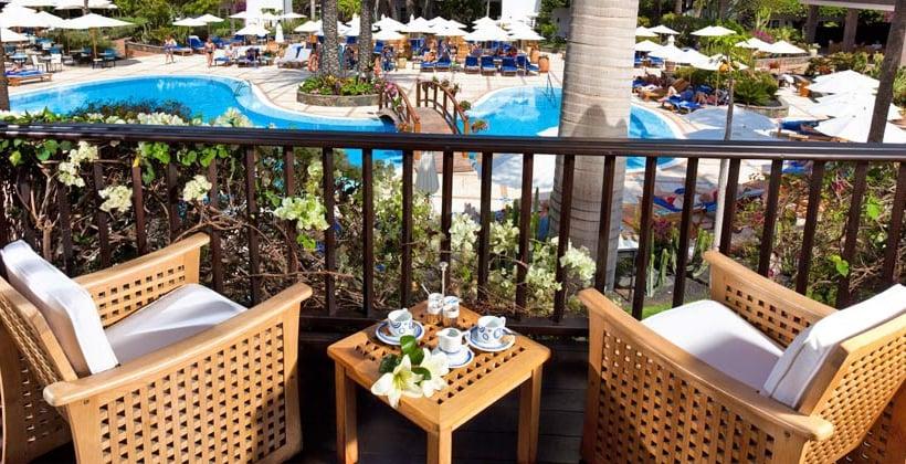 테라스 Seaside Grand Hotel Residencia Maspalomas