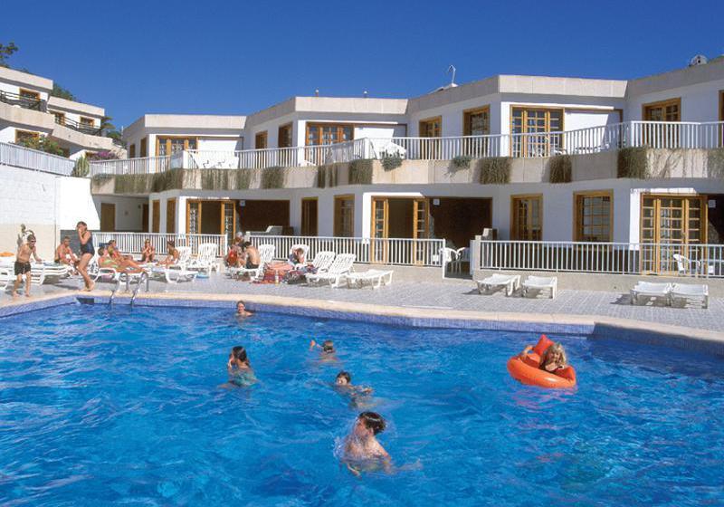 حمام سباحة Checkin Bungalows Atlántida  لوس كريستيانوس