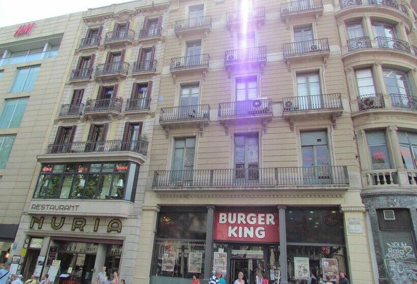 Barcelona city ramblas pensi n canaletas barcellona le for Migliori hotel barcellona