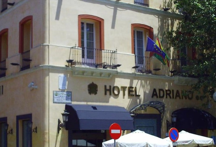 Outside Hotel Adriano Seville